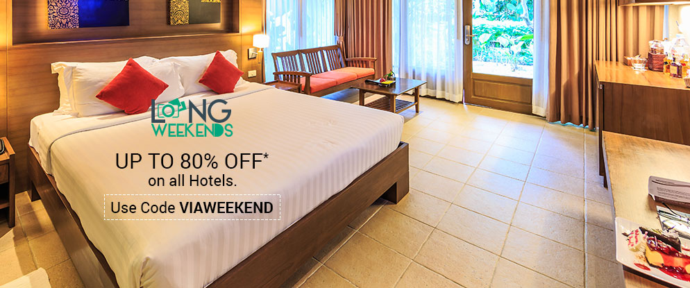 Up To 80% discount on Hotels Booking