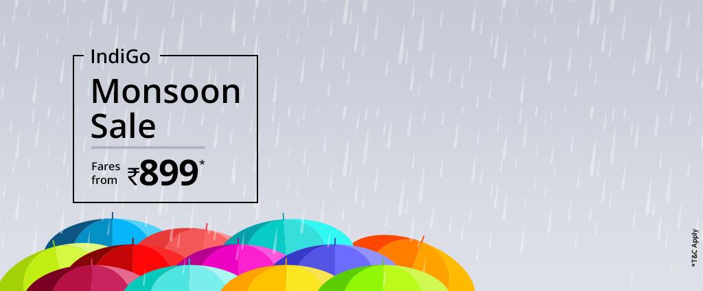 IndiGo Monsoon Sale Offers Fares from 899 Via com