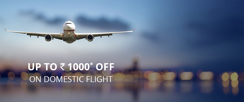 Upto Rs. 1000 off on Domestic Flights